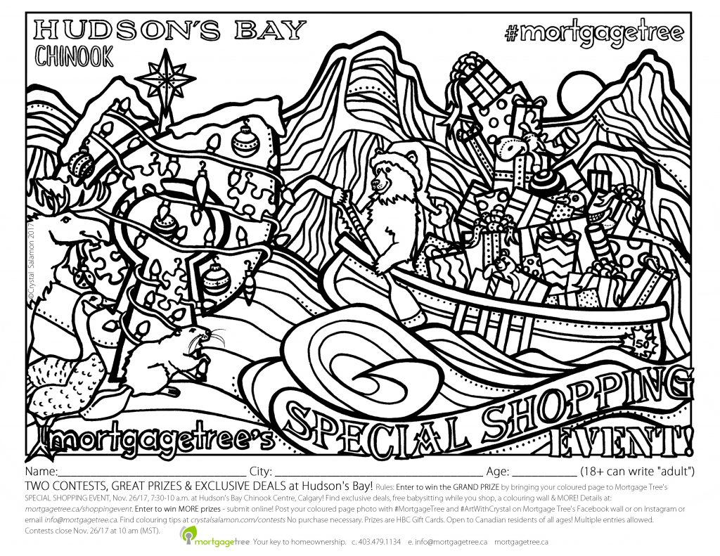 down the bay coloring pages | Exclusive Hudson Bay Shopping Event - Mortgage Tree